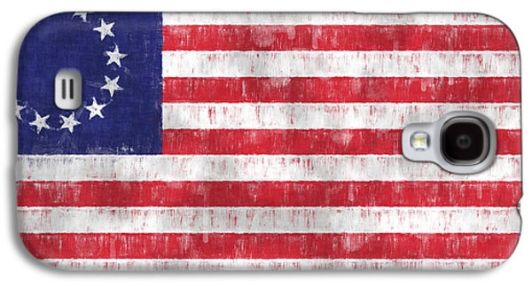 Betsy Galaxy S4 Cases - Betsy Ross Flag Galaxy S4 Case by World Art Prints And Designs