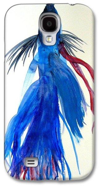 Betta Galaxy S4 Cases - Betta Fish Watercolor Galaxy S4 Case by Jennifer Gaida