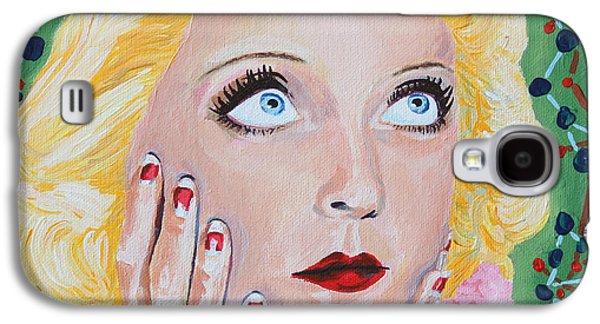 First Lady Galaxy S4 Cases - Bette Davis Portrait Galaxy S4 Case by Robert Yaeger