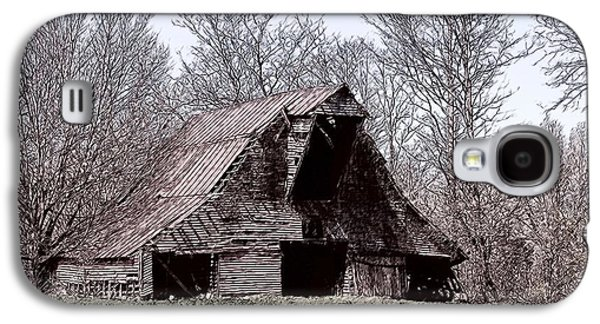 Old Barn Drawing Galaxy S4 Cases - Better Days Galaxy S4 Case by Bonnie Willis