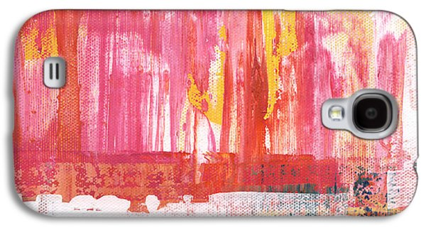 Lounge Galaxy S4 Cases - Better Days- Large Abstract Galaxy S4 Case by Linda Woods