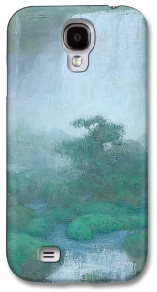 Waterfalls Paintings Galaxy S4 Cases - Between Falls Galaxy S4 Case by Steve Mitchell