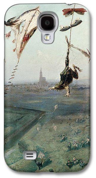 Kite Galaxy S4 Cases - Between Heaven And Earth, 1862 Oil On Canvas Galaxy S4 Case by Gustave Dore