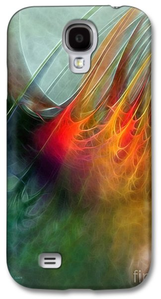 Mathematical Design Galaxy S4 Cases - Between Heaven and Earth-Abstract Galaxy S4 Case by Karin Kuhlmann