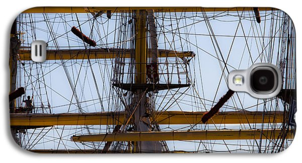 Edgar Laureano Photographs Galaxy S4 Cases - Between masts and ropes Galaxy S4 Case by Edgar Laureano