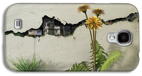 Digital Galaxy S4 Cases - Between the Cracks Galaxy S4 Case by Cynthia Decker