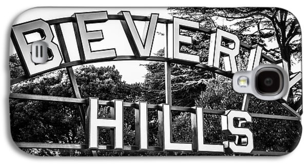 Beverly Hills Sign In Black And White Galaxy S4 Case by Paul Velgos