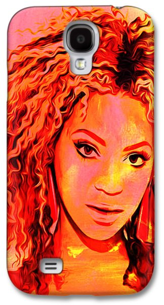 Jay Z Paintings Galaxy S4 Cases - Beyonce Galaxy S4 Case by Brian Reaves
