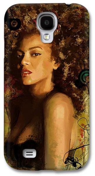 Celebrities Galaxy S4 Cases - Beyonce Galaxy S4 Case by Corporate Art Task Force