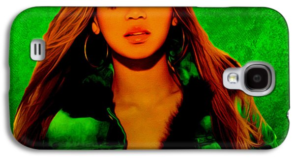 Jay Z Paintings Galaxy S4 Cases - Beyonce II Galaxy S4 Case by Brian Reaves