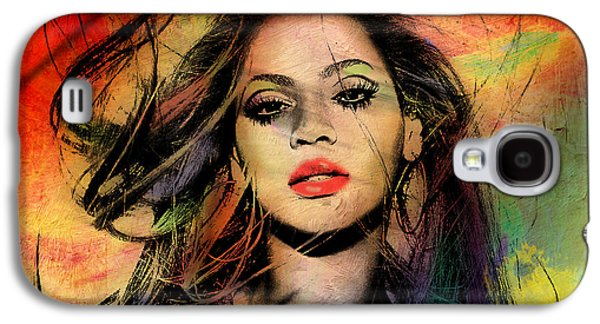 Face Digital Galaxy S4 Cases - Beyonce Galaxy S4 Case by Mark Ashkenazi