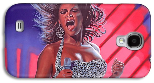 Jay Z Paintings Galaxy S4 Cases - Beyonce Galaxy S4 Case by Paul  Meijering