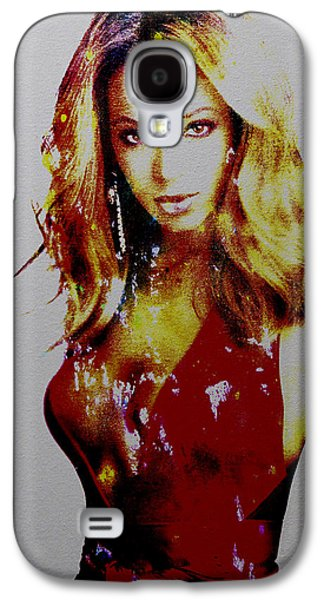 Jay Z Paintings Galaxy S4 Cases - Beyonce Simply Me Galaxy S4 Case by Brian Reaves