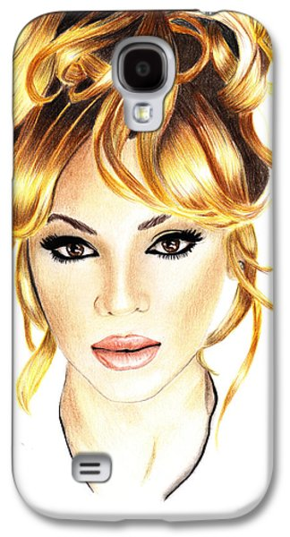Hop Drawings Galaxy S4 Cases - Beyonce Galaxy S4 Case by Veronica Crockford