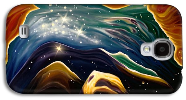 Cosmology Paintings Galaxy S4 Cases - Beyond the Furthest Point Galaxy S4 Case by Barbara McMahon