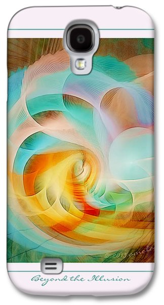 Fractal Pastels Galaxy S4 Cases - Beyond the Illusion Galaxy S4 Case by Gayle Odsather