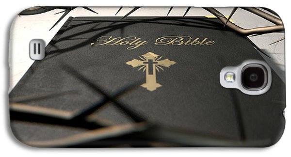 Bible Galaxy S4 Cases - Bible And Crown Of Thorns Galaxy S4 Case by Allan Swart