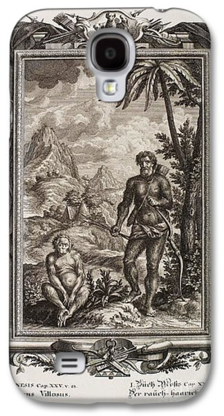 Creationism Galaxy S4 Cases - Biblical Hairy Esau, Scheuchzer, 1731 Galaxy S4 Case by Paul D. Stewart