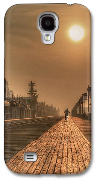 Lori Deiter Digital Art Galaxy S4 Cases - Bicycle Boardwalk Galaxy S4 Case by Lori Deiter