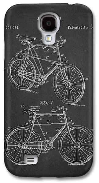 Decor Drawings Galaxy S4 Cases - Bicycle Patent Galaxy S4 Case by Aged Pixel