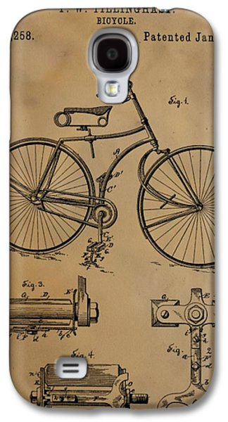 Transportation Mixed Media Galaxy S4 Cases - Bicycle Patent Galaxy S4 Case by Dan Sproul