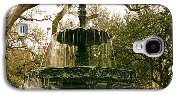 Art Mobile Galaxy S4 Cases - Bienville Square Fountain - Mobile Alabama Galaxy S4 Case by Mountain Dreams
