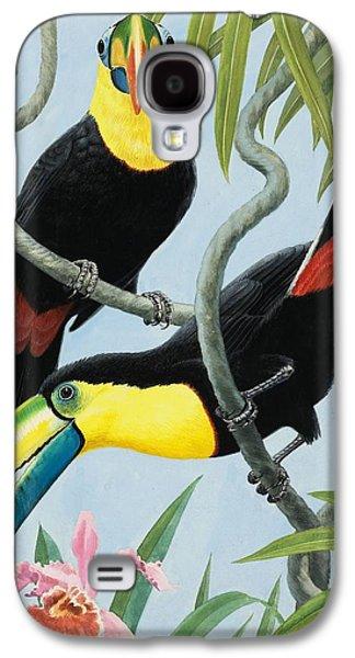 Big-beaked Birds Galaxy S4 Case by RB Davis