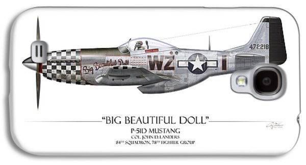 Big Beautiful Doll P-51d Mustang - White Background Galaxy S4 Case by Craig Tinder