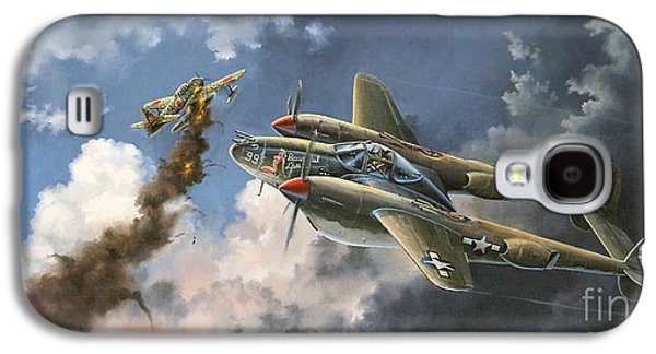 Dogfight Galaxy S4 Cases - Big Beautiful Lass Galaxy S4 Case by Randy Green