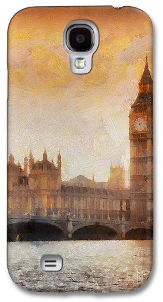 Big Ben At Dusk Galaxy S4 Case by Pixel Chimp