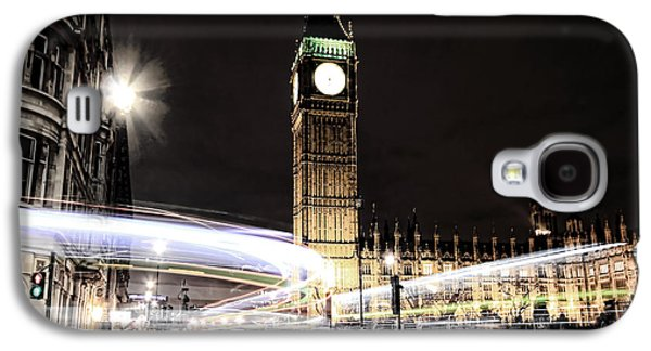 Big Ben With Light Trails Galaxy S4 Case by Jasna Buncic