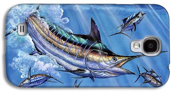 Blue Marlin Galaxy S4 Cases - Big Blue And Tuna Galaxy S4 Case by Terry Fox