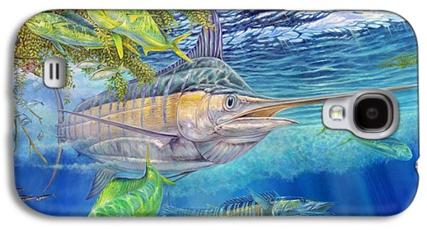 Marlin Azul Galaxy S4 Cases - Big Blue Hunting In The Weeds Galaxy S4 Case by Terry  Fox