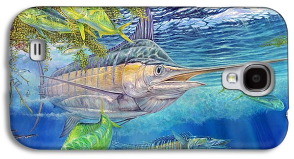 Wahoo Galaxy S4 Cases - Big Blue Hunting In The Weeds Galaxy S4 Case by Terry  Fox