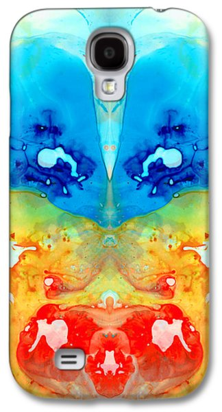 Visionary Paintings Galaxy S4 Cases - Big Blue Love - Visionary Art By Sharon Cummings Galaxy S4 Case by Sharon Cummings