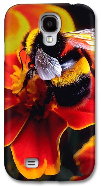 Photo Manipulation Photographs Galaxy S4 Cases - Big Bumble Galaxy S4 Case by Bill Caldwell -        ABeautifulSky Photography