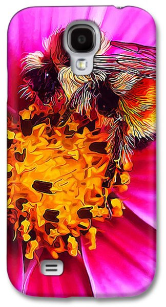 Photo Manipulation Digital Galaxy S4 Cases - Big Bumble on Pink Galaxy S4 Case by Bill Caldwell -        ABeautifulSky Photography