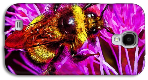 Photo Manipulation Galaxy S4 Cases - Big Busy Bumble Galaxy S4 Case by Bill Caldwell -        ABeautifulSky Photography