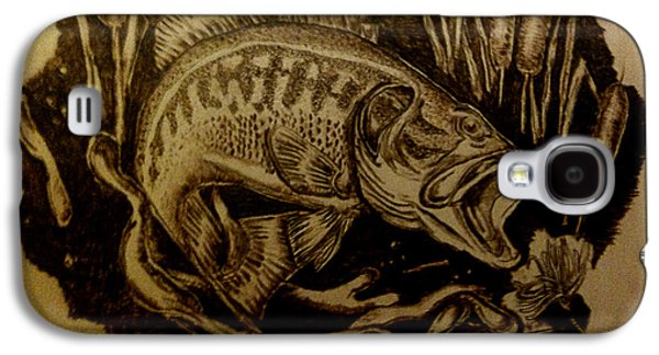 Lure Pyrography Galaxy S4 Cases - Big Catch Galaxy S4 Case by Dale Bradley