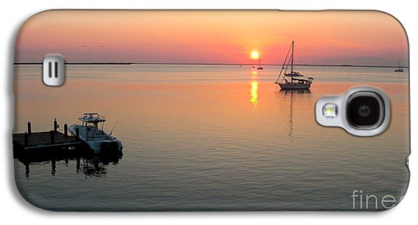 Docked Sailboats Galaxy S4 Cases - Big Chill Sunset Galaxy S4 Case by Carey Chen