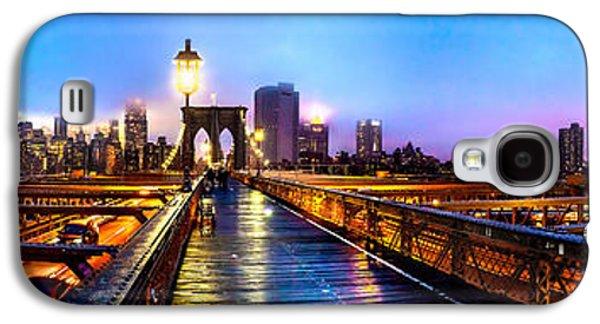 Light Galaxy S4 Cases - Big City Blues Galaxy S4 Case by Az Jackson