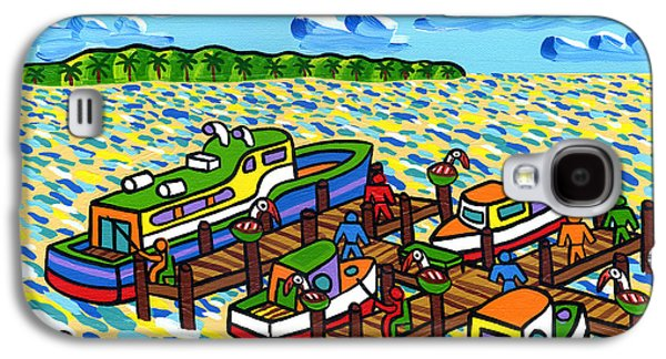 Cedar Key Galaxy S4 Cases - Big Dock - Cedar Key Galaxy S4 Case by Mike Segal