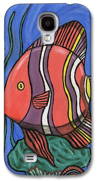 Alga Paintings Galaxy S4 Cases - Big Fish Galaxy S4 Case by Roz Abellera Art