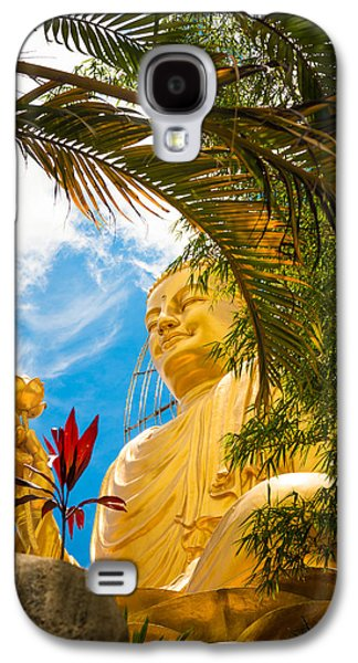 Statue Portrait Galaxy S4 Cases - Big Golden Buddha Galaxy S4 Case by Nikita Buida
