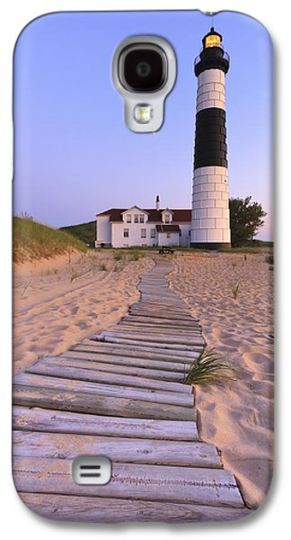 Best Sellers -  - Landmarks Photographs Galaxy S4 Cases - Big Sable Point Lighthouse Galaxy S4 Case by Adam Romanowicz