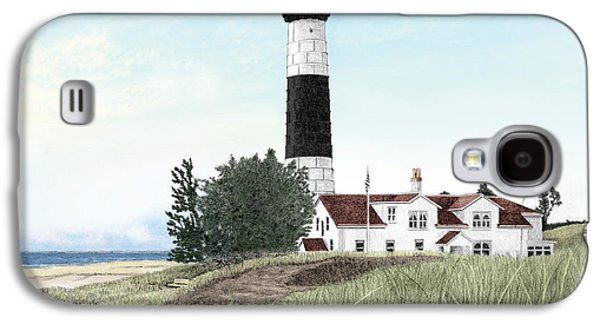 Big Sable Point Lighthouse Titled Galaxy S4 Case by Darren Kopecky