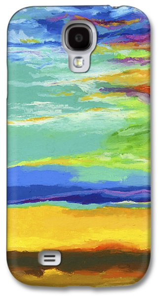 Abstract Landscape Pastels Galaxy S4 Cases - Big Sky Galaxy S4 Case by Stephen Anderson