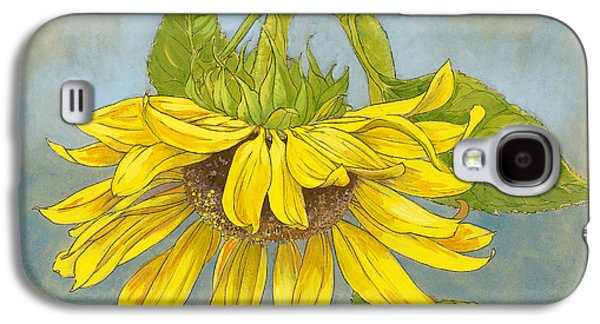 Big Sunflower Galaxy S4 Case by Tracie Thompson