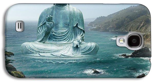 Alixandra Mullins Galaxy S4 Cases - Big Sur Tea Garden Buddha Galaxy S4 Case by Alixandra Mullins