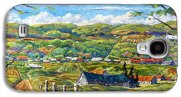 Canadiens Paintings Galaxy S4 Cases - Big Valley by Prankearts Galaxy S4 Case by Richard T Pranke